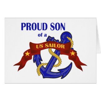 Proud Son of a US Sailor Greeting Card