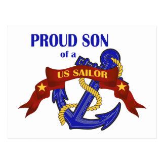 Proud Son of a US Sailor Postcard