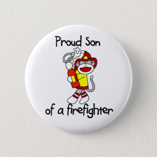 Proud Son of Firefighter 6 Cm Round Badge