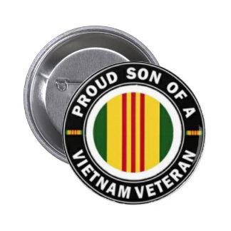 Proud Son of Vietnam Vet Button