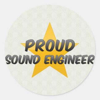 Proud Sound Engineer Round Sticker