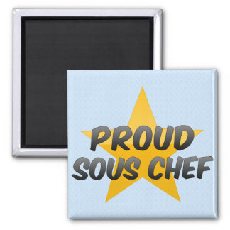Proud Sous Chef Square Magnet