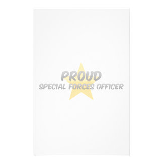 Proud Special Forces Officer Stationery Paper