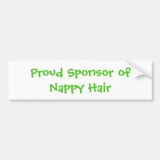 Proud Sponsor of Nappy Hair Bumper Sticker