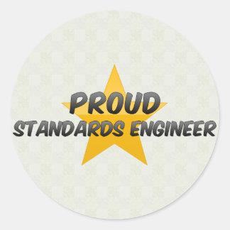 Proud Standards Engineer Round Sticker