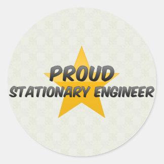 Proud Stationary Engineer Classic Round Sticker
