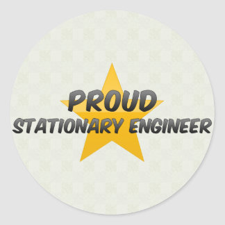 Proud Stationary Engineer Round Sticker