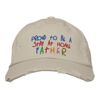 Proud Stay At Home Father Distressed Chino Cap Embroidered Cap