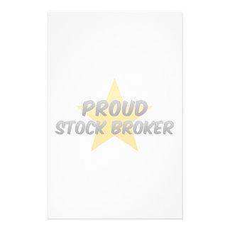 Proud Stock Broker Custom Stationery