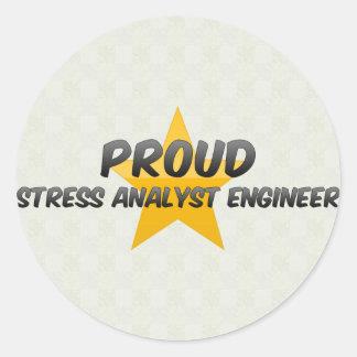Proud Stress Analyst Engineer Round Sticker