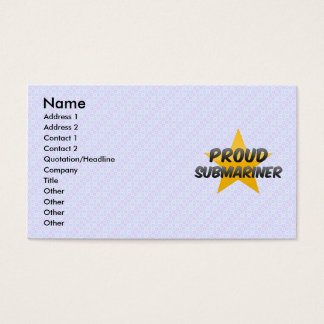 Proud Submariner Business Card