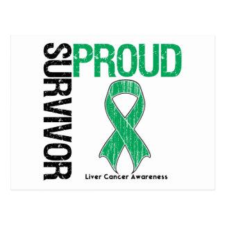 Proud Survivor - Liver Cancer Postcard
