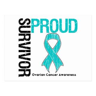 Proud Survivor - Ovarian Cancer Postcard