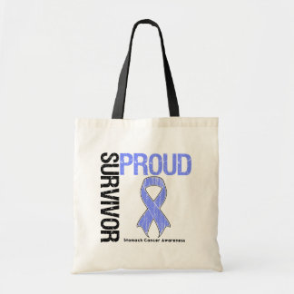 Proud Survivor - Stomach Cancer Budget Tote Bag