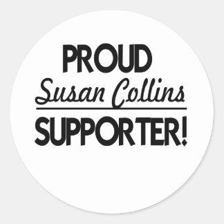 Proud Susan Collins Supporter! Classic Round Sticker
