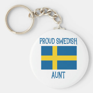 Proud Swedish Aunt Key Ring