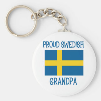 Proud Swedish  Grandpa Key Ring