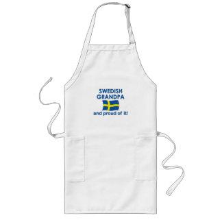 Proud Swedish Grandpa Long Apron