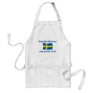 Proud Swedish Mormor (Grandmother) Standard Apron