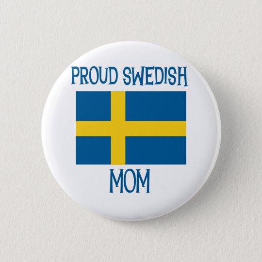 Proud Swedish Mum 6 Cm Round Badge