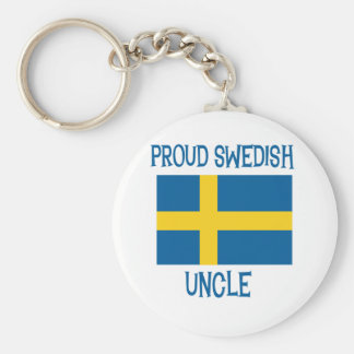 Proud Swedish Uncle Key Ring