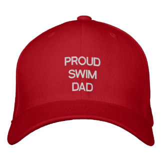 PROUD SWIM DAD EMBROIDERED HAT TEMPLATE