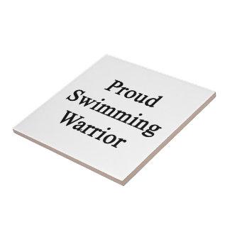 Proud Swimming Warrior Tiles