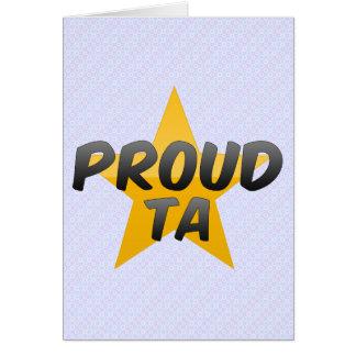 Proud Ta Greeting Card