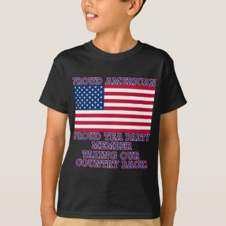 PROUD TEA PARTY MEMBER Tshirt