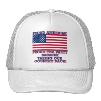 PROUD TEA PARTY MEMBER Tshirt Mesh Hats