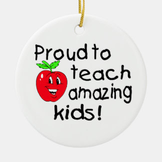 Proud Teacher Christmas Ornament