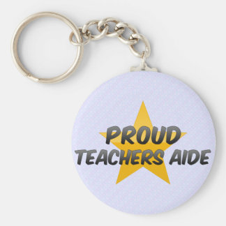Proud Teachers Aide Basic Round Button Key Ring
