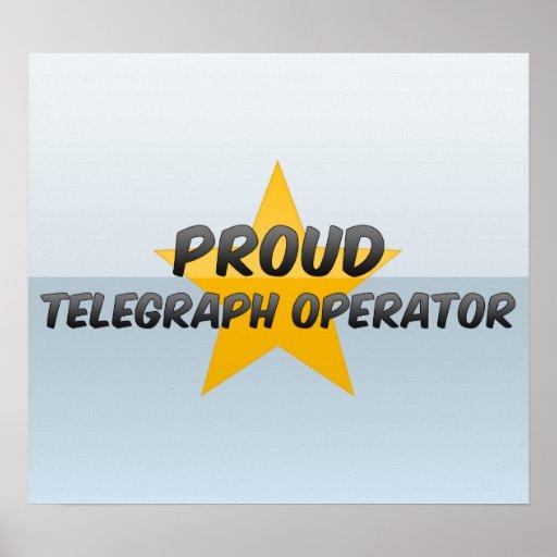 Proud Telegraph Operator Poster