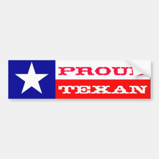 Proud Texan Bumper Sticker