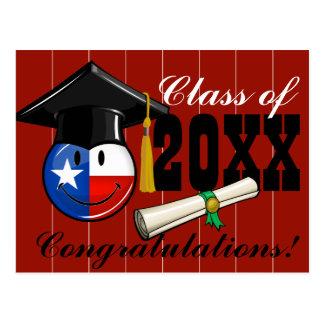 Proud Texas Graduate Smiling Flag Postcard