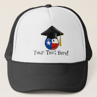 Proud Texas Graduate Smiling Flag Trucker Hat