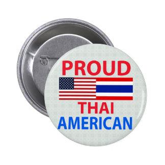 Proud Thai American 6 Cm Round Badge