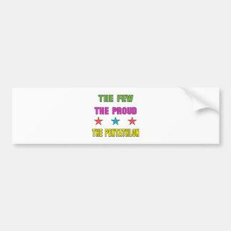 Proud the Pentathlon. Bumper Sticker