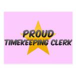 Proud Timekeeping Clerk Postcards