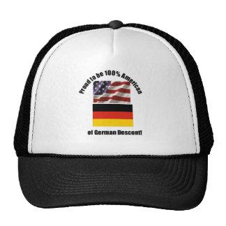 Proud to be 100 % American of German desent cap