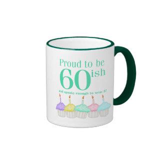 Proud to be 60ish ringer mug