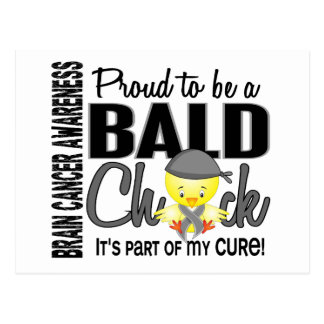 Proud To Be A Bald Chick Brain Cancer Postcard