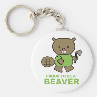 Proud To Be A Beaver Key Ring