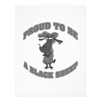 proud to be a black sheep 21.5 cm x 28 cm flyer