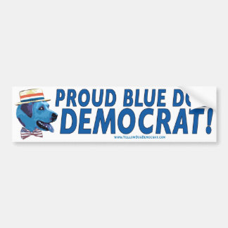 Proud To Be A Blue Dog Democrat Bumper Sticker