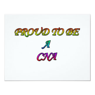 PROUD TO BE A CNA 11 CM X 14 CM INVITATION CARD