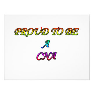 PROUD TO BE A CNA CUSTOM INVITATIONS