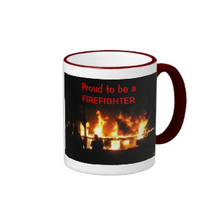 Proud to be a FIREFIGHTER mug