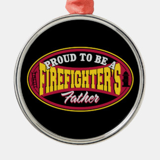 Proud to be a Firefighter's Father Christmas Ornament