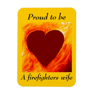 Proud to be a firefighter's wife rectangular photo magnet